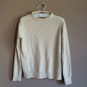 Brandy Melville Pale Grey Marled Wool Crew Sweater